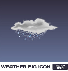 Heavy rain icon vector