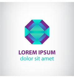 abstract geometric modern futuristic logo vector image vector image
