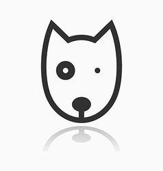 Animal portrait line icon dog vector