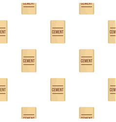 Bag of cement pattern flat vector