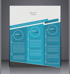 Business brochure flyer design layout cover vector