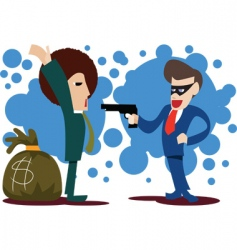 Businessman-rob-businessman vector