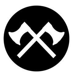 Crossed axes button vector