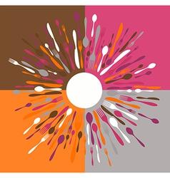 Cutlery restaurant menu vector image vector image
