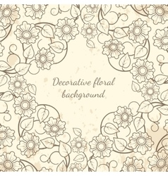 Decorative floral background vintage style vector image vector image