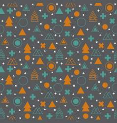 ethnic geometric seamless pattern abstract tribal vector image