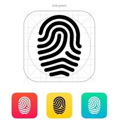 Fingerprint loop type icon vector