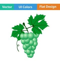Flat design icon of grape vector