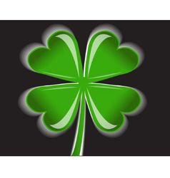 four-leaf clover vector image vector image