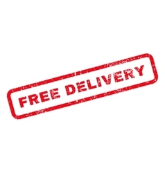Free delivery text rubber stamp vector
