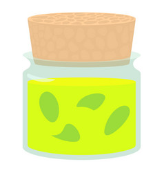 Glass bottle of medical tincture icon vector