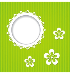 green frame and flowers vector image vector image