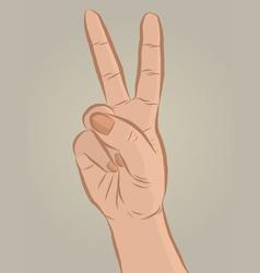 Handsign2 vector image