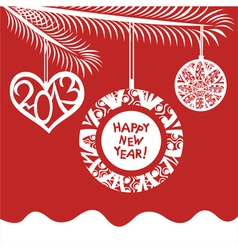 Happy New Year 2013 Background vector image vector image