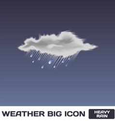 Heavy Rain Icon vector image vector image