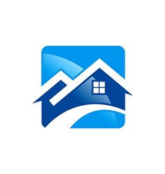 house roof construction icon logo vector image