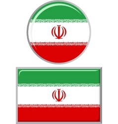 Iranian round and square icon flag vector