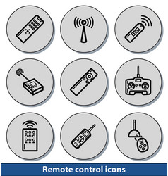 Light remote control icons vector
