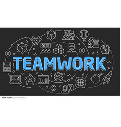 lines template teamwork vector image