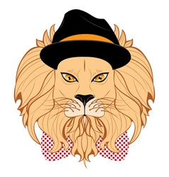 Lion Hipster2 vector image vector image