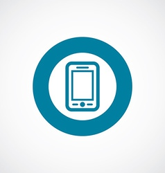 Mobile phone icon bold blue circle border vector
