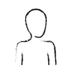 monochrome blurred silhouette of human half body vector image