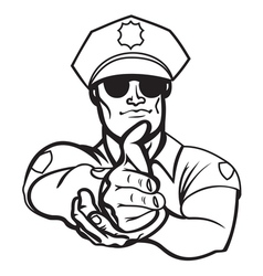 police officer2 resize vector image