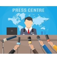 Press conference world live tv news vector