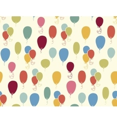 Seamless pattern with colorful baloons vector