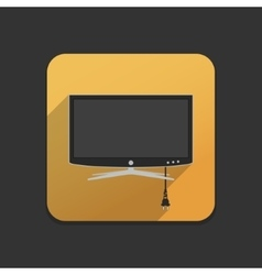Smart tv flat icon vector