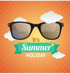 sunglasses summer card background vector image