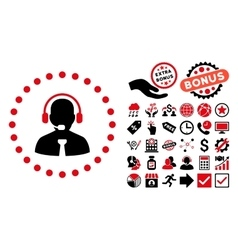 Support chat flat icon with bonus vector