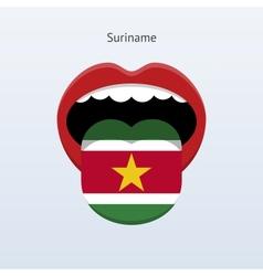 Suriname language abstract human tongue vector