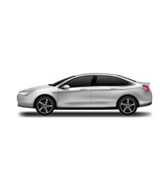 white car clear business sedan isolated vector image