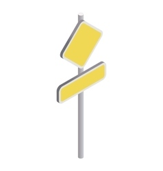 Yellow road sign icon isometric 3d style vector