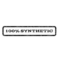 100 percent synthetic watermark stamp vector