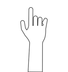 Hand index finger icon vector