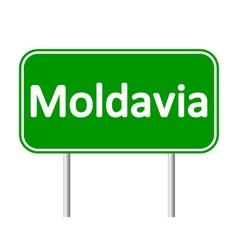 Moldavia road sign vector image