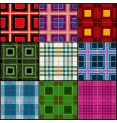 Classic tartan british traditional stripe plaid vector