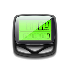 Bicycle speedometer isolated on white vector