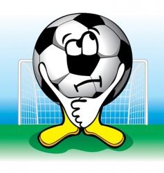 cartoon soccer penalties vector image