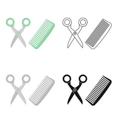 hairdresser icon in cartoon style isolated on vector image