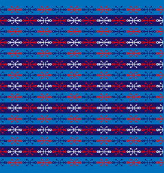 Red blue white nautical stripe vector