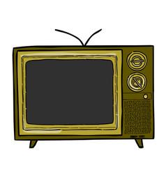 cartoon image of tv icon television symbol vector image