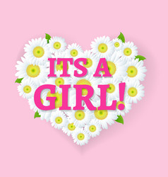 Its a girl card vector