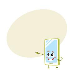 Cartoon mobile phone smartphone character vector