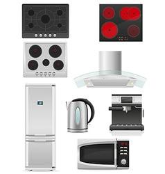 set of kitchen appliances 02 vector image