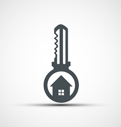 Icons key with a house vector
