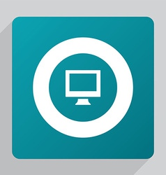 Flat pc icon vector