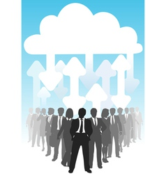 Company people do business in it cloud computing e vector